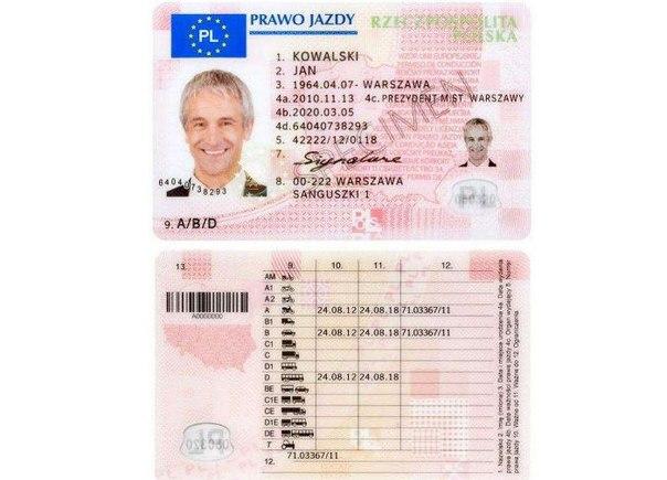 европейские водительские права